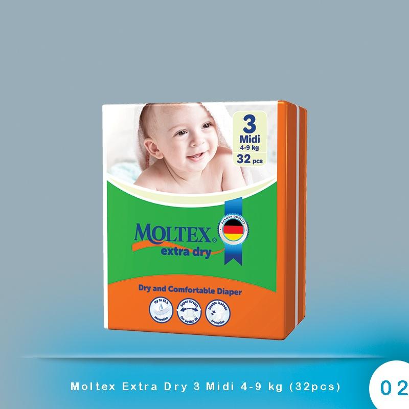 Moltex Extra Dry 3 Midi 4-9 kg (32pcs)
