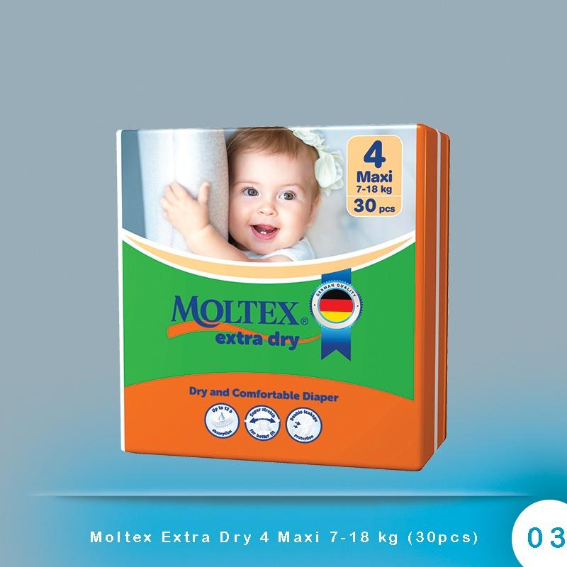 Moltex Extra Dry 4 Maxi 7-18 kg (30pcs)